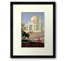 Vintage India Travel Framed Print