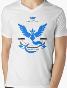 Pokemon Go Team Mystic Revision Mens V-Neck T-Shirt