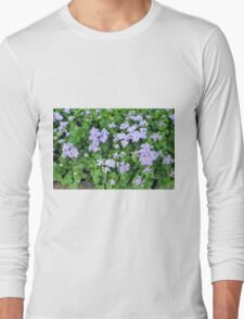 Purple flowers, natural background  Long Sleeve T-Shirt