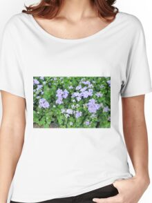 Purple flowers, natural background  Women's Relaxed Fit T-Shirt
