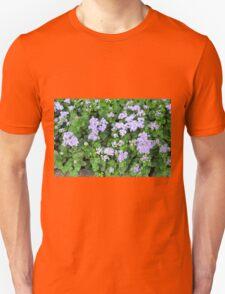 Purple flowers, natural background  Unisex T-Shirt