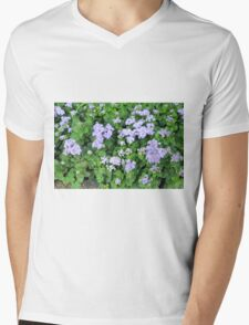 Purple flowers, natural background  Mens V-Neck T-Shirt