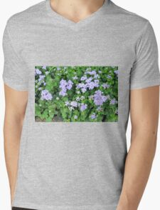 Purple flowers, natural background  Mens V-Neck T-Shirt