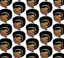 Ethnic Afro Girl... by Nia Brown