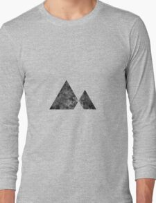 Triangle Mountain Dark Long Sleeve T-Shirt