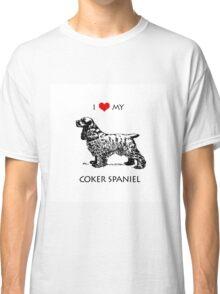 I Love My Cocker Spaniel Dog Classic T-Shirt