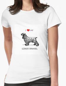 I Love My Cocker Spaniel Dog Womens Fitted T-Shirt