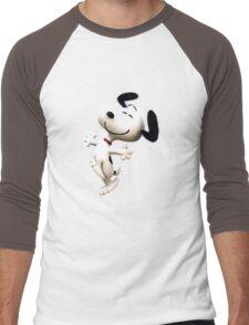 Snoopy, peanut, happy dog,  Men's Baseball ¾ T-Shirt