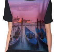 VENICE Gondolas at Sunset Chiffon Top