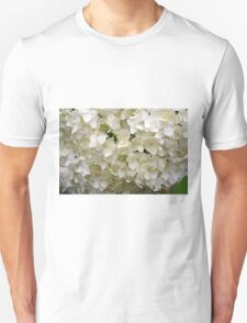White small beautiful flowers texture. Unisex T-Shirt