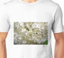 White small beautiful flowers texture. Unisex T-Shirt