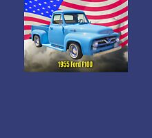 1955 F100 Ford Pickup Truck with US Flag Unisex T-Shirt