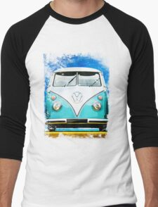 VW CAMPER BLUE - ILLUSTRATION Men's Baseball ¾ T-Shirt