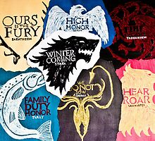 Game of Thrones Sigils by JJ-SpaceNerd