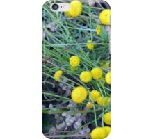 Yellow flowers background iPhone Case/Skin