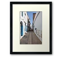 old  city of the narrow street  Framed Print