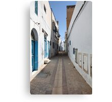old  city of the narrow street  Canvas Print