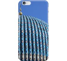 Tiled dome of a mosque with a golden crescent  iPhone Case/Skin