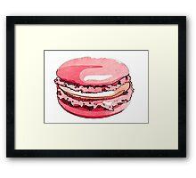 Love macarons #YUMMY Framed Print