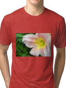 White hibiscus flower. Tri-blend T-Shirt