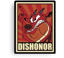 Dishonor Canvas Print