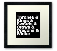 A Song of Ice and Fire (Black) Framed Print