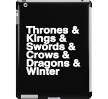 A Song of Ice and Fire (Black) iPad Case/Skin