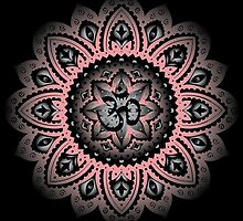 Yoga Mandala Henna Ornate Ohm Pink by Carolina Swagger