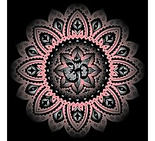 Yoga Mandala Henna Ornate Ohm Pink Photographic Print