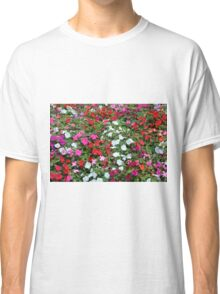 Colorful flowers pattern. Classic T-Shirt