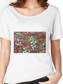 Colorful flowers pattern. Women's Relaxed Fit T-Shirt