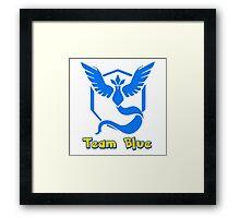 Team Blue Mystic Pokemon Go Framed Print
