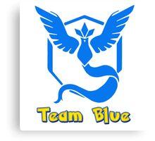Team Blue Mystic Pokemon Go Canvas Print