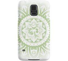 Yoga Mandala Henna Ornate Ohm Sage Green Samsung Galaxy Case/Skin