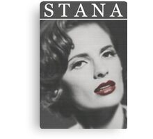Stana Katic as Marilyn Monroe Canvas Print