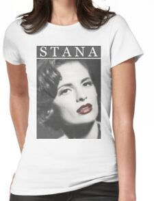 Stana Katic as Marilyn Monroe Womens Fitted T-Shirt