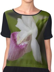 orchid in the garden Chiffon Top