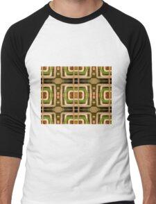 wire matrix collage Men's Baseball ¾ T-Shirt
