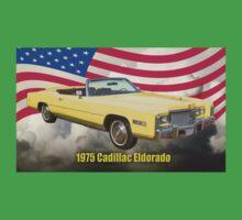 1975 Cadillac Eldorado Convertible And US Flag Kids Clothes