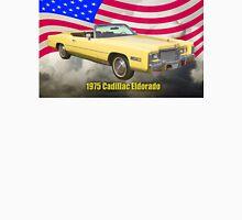 1975 Cadillac Eldorado Convertible And US Flag Unisex T-Shirt