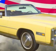 1975 Cadillac Eldorado Convertible And US Flag Sticker