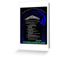 Liber Oz Thelema Aliester Crowley Thelemic Philosophy Book of the Law Illuminati Greeting Card