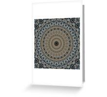 Mandala in gray and beige tones Greeting Card