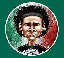 Footballicature : Guillermo Ochoa by normannazar