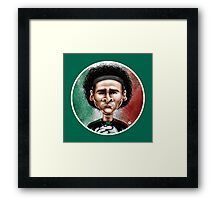 Footballicature : Guillermo Ochoa Framed Print