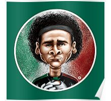 Footballicature : Guillermo Ochoa Poster