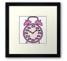 Tumblr Alarm Clock Framed Print