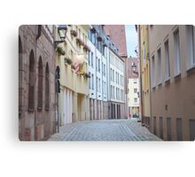 Quiet Empty Street Canvas Print