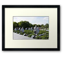 Washington DC Korean War Memorial Framed Print