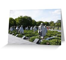 Washington DC Korean War Memorial Greeting Card